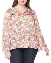 B Collection By Bobeau - Plus Jaymee Printed Blouse - Lyst