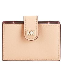 MICHAEL Michael Kors - Money Pieces Embossed Leather Card Case - Lyst