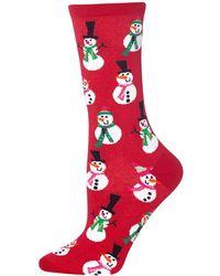 Hot Sox - Snowmen Crew Socks - Lyst