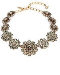 Oscar de la Renta - Floral Link Necklace - Lyst