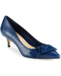 Lord & Taylor - Railey Leather Bow Heels - Lyst