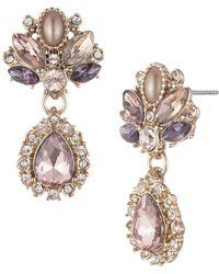 Marchesa Goldtone Cluster Drop Earrings