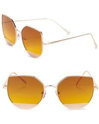18541a2185b Lyst - Steve Madden 55mm Shield Butterfly Sunglasses in Purple