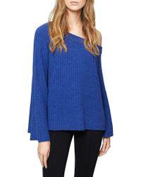 Sanctuary - Aurelia One-shoulder Rib-knit Jumper - Lyst