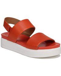 Franco Sarto - Kenan Leather Platform Sandals - Lyst