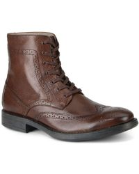 Marc New York - Baycliff Leather Wing-tip Boots - Lyst