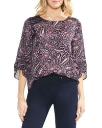 Vince Camuto - Sapphire Bloom Printed Blouse - Lyst