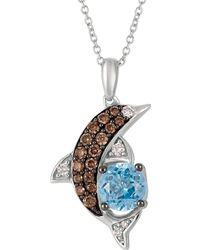 Le Vian - Chocolatier Ocean Blue Topaz And 14k Vanilla Gold Pendant Necklace - Lyst