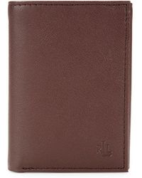 Lauren by Ralph Lauren - Burnished Leather Tri-fold Wallet - Lyst