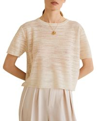 Mango - Slub-cotton Top - Lyst