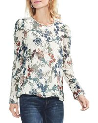 Vince Camuto - Sapphire Blossom Long-sleeve Blouse - Lyst