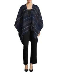 Echo - Plaid Sweater Cape - Lyst