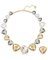 Swarovski - Goldplated And Multi-colored Crystal March Fox Necklace - Lyst