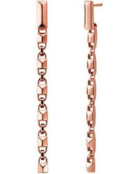 Michael Kors - Mercer Link Linear 14k Rose Gold-plated Earrings - Lyst