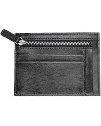 Royce - New York Rfid Blocking Saffiano Leather Card Case Wallet - Lyst