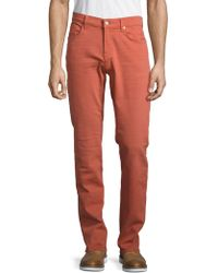 7 For All Mankind - Luxe Performance: Slimmy Slim Straight-leg Jeans - Lyst