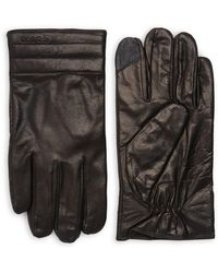 Calvin Klein - Quilted Leather Gloves - Lyst