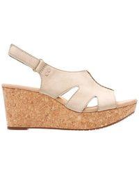 Clarks - Annadel Leather Platform Sandals - Lyst
