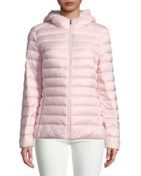 Lord & Taylor - Hooded Down Coat - Lyst