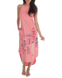 Munki Munki - Tokyo Cotton-blend Sleeveless Hi-lo Dress - Lyst