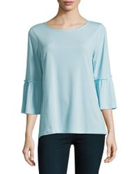 Ellen Tracy - Petite Bell-sleeve Stretch Top - Lyst