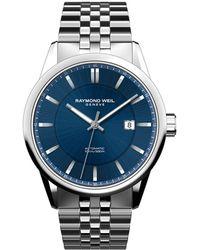 Raymond Weil - Freelancer Stainless Steel Automatic Bracelet Watch - Lyst