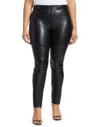 Marina Rinaldi - Faux Leather Moto Trousers - Lyst
