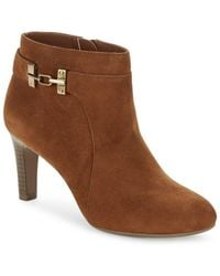 Bandolino - Lappo Almond Toe Suede Booties - Lyst