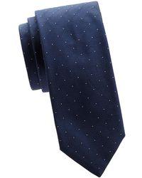 BOSS - Textured Dotted Silk Tie - Lyst