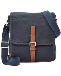 Fossil - Davis Canvas Crossbody Bag - Lyst