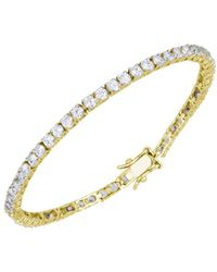 Lord & Taylor - Cubic Zirconia And Sterling Silver Line Bracelet - Lyst