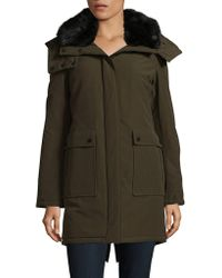 French Connection - Faux Fur-accented Hooded Parka - Lyst