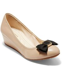 Cole Haan - Tali Soft Bow Wedge Pumps - Lyst