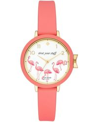 Kate Spade - Park Row Leather-strap Watch - Lyst