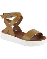MIA - Calla Faux Leather Ankle-strap Sandals - Lyst