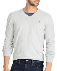Polo Ralph Lauren - V-neck Cotton Jumper - Lyst