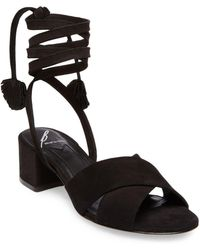 B Brian Atwood - Astor Nubuck Leather Sandals - Lyst