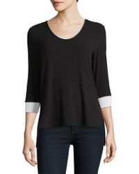 Jones New York - V-neck Top - Lyst