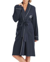 Lauren by Ralph Lauren - The Hartford Robe With Quilted Collar And Cuffs - Lyst