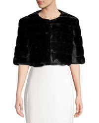 Eliza J - Faux-fur Cropped Coat - Lyst