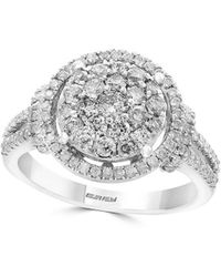 Effy - Pave Classica Diamond And 14k White Gold Ring - Lyst