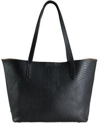 Gigi New York - Spring Python Teddie Textured Leather Tote - Lyst