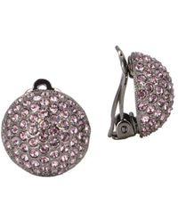 Nina - E-aliona Swarovski Crystal Clip-on Earrings - Lyst