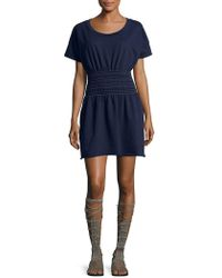 Lord & Taylor - Smock-waist Fit-&-flare Dress - Lyst