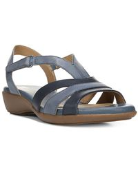 Naturalizer - Neina Leather Wedge Sandals - Lyst