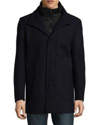 Vince Camuto - Wool Blend Three-button Coat - Lyst