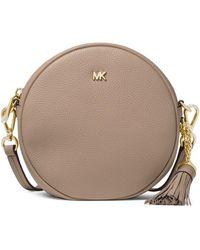 MICHAEL Michael Kors - Medium Leather Canteen Crossbody Bag - Lyst