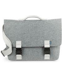 M.R.K.T. - Kel Microsuede Flap Briefcase - Lyst