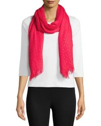 Lord & Taylor - Distressed Metallic Scarf - Lyst