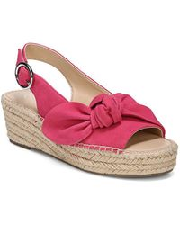 Franco Sarto - Pirouette Suede Slingback Espadrille Wedges - Lyst